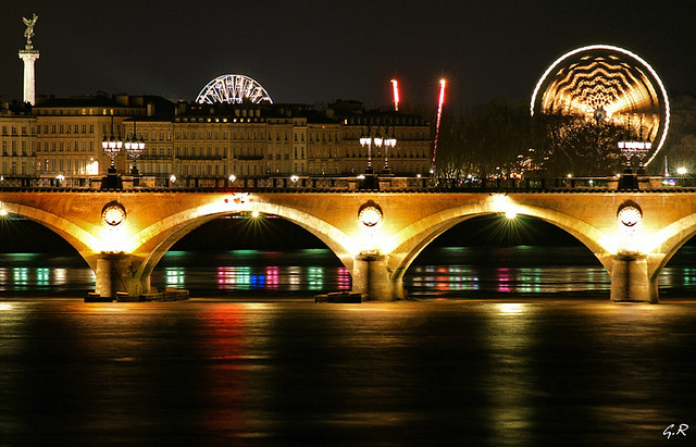 bordeaux de nuit vue du pont st jean gilles r mus flickr. Black Bedroom Furniture Sets. Home Design Ideas