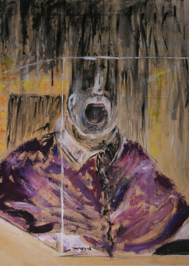 Bacon's Pope Innocent X Personal Study | This is a ... Francis Bacon Artist Screaming Pope