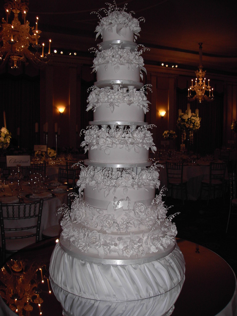 biggest tier wedding cake 7 tier wedding cake this was one of my 11741