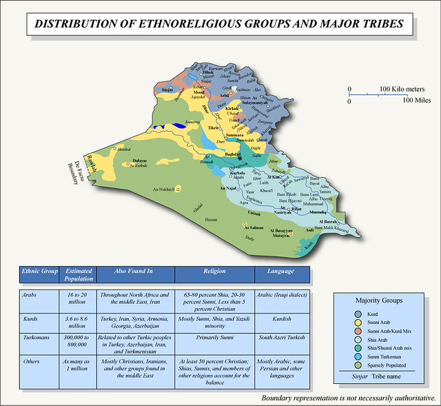 Major Ethnic Divisions in Iraq | Map of major ethnic divisio… | Flickr