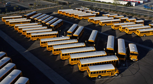 School buses, spring break | by Michael Layefsky