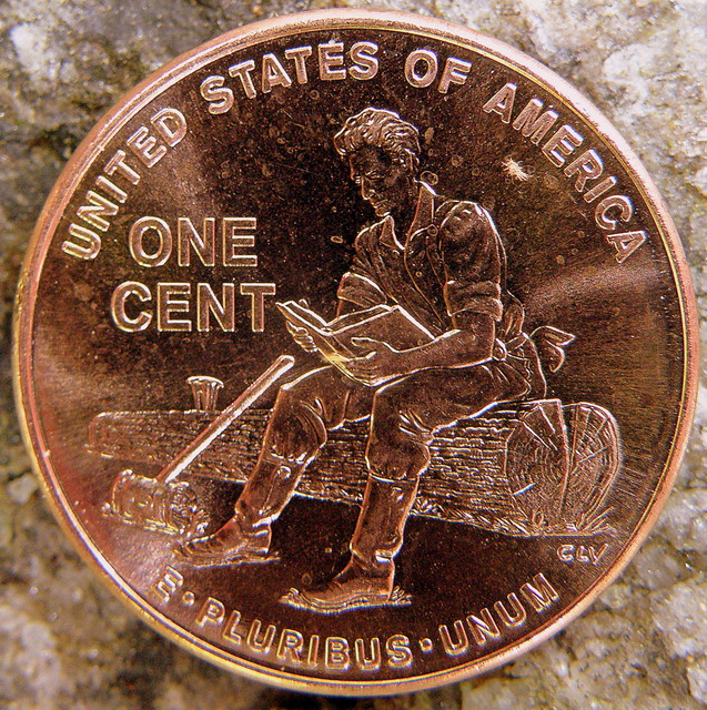 2009 One Cent Aka Penny Back In The Year 1909 Our