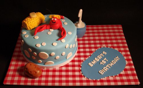 Crawfish Boil First Birthday Cake Nicole Mcgarry Flickr