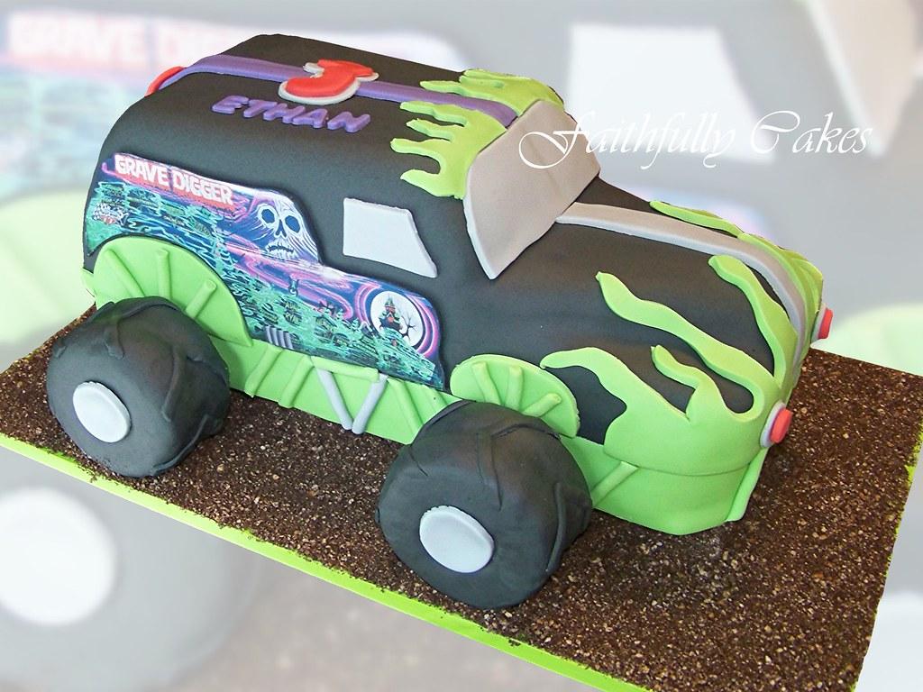 Grave Digger Monster Truck Faithfullycakes Flickr