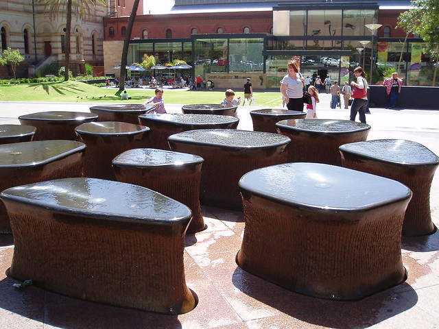 Interesting water feature south australian museum for Garden water features adelaide