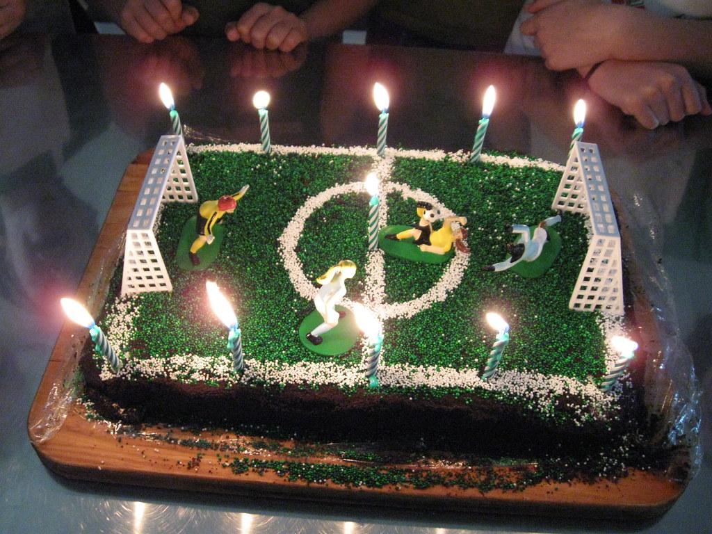 Soccer Ice Cream Cake