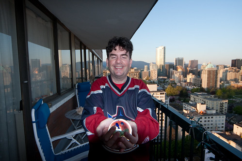 Dan and his crystal ball predicting a Vancouver Canucks victory | by Eyesplash - Explore is so 2009...for me at least..