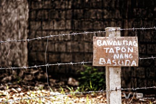 bawal magtapon ng basura oliver calingo flickr
