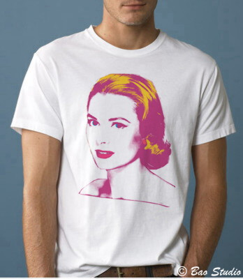 Grace Kelly Pop Art Graphic T Shirts By Baostudio Flickr
