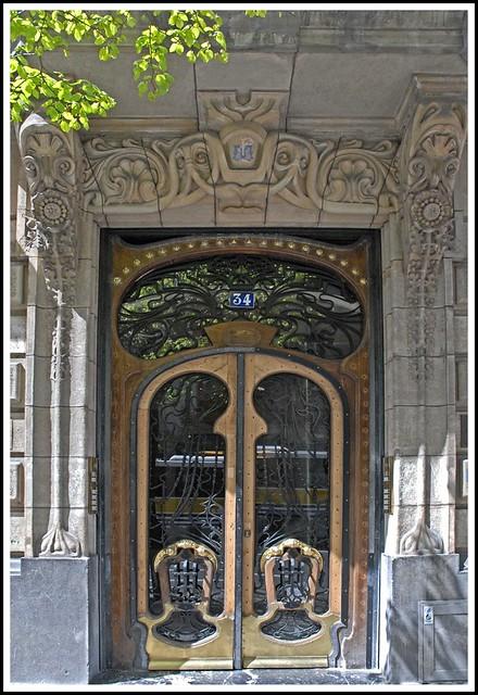 Porte D U0026 39 Entr U00e9e D U0026 39 Un Immeuble Art Nouveau  U00e0 Bilbao