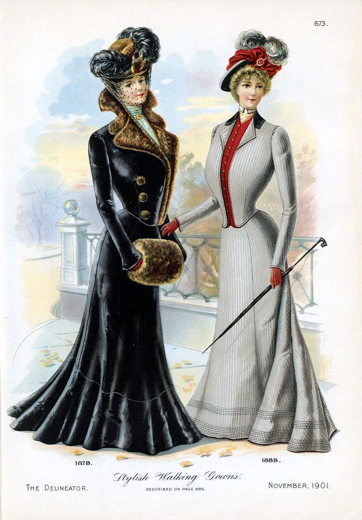 1901 Walking Gowns | Walking gowns, from the November 1901