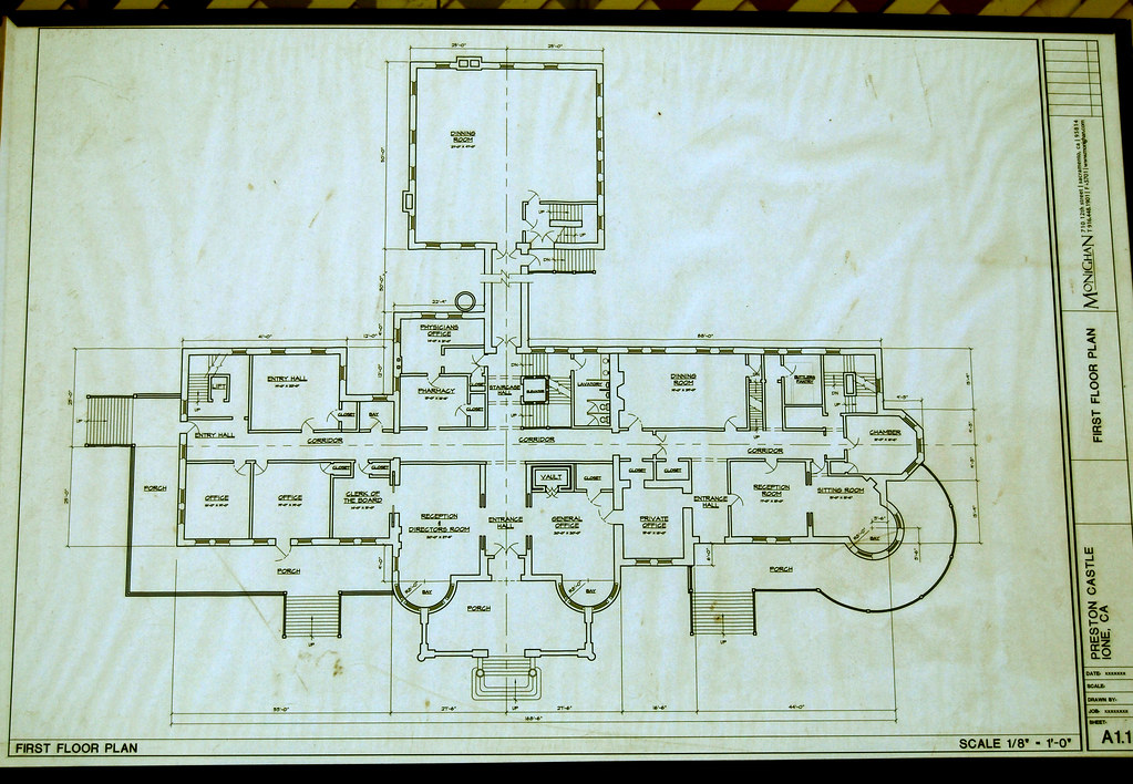First Floor Plan | preston castle | Flickr