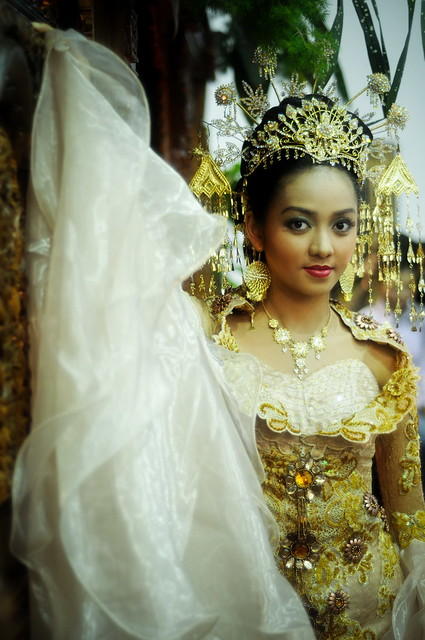 Me, with traditional Indonesian wedding dress Flower Exhi ...