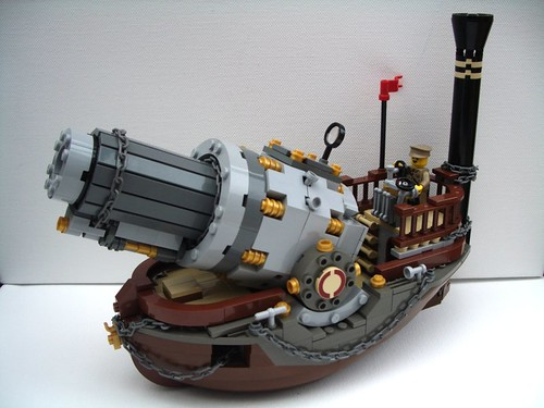 Vulcan: Prussian Naval Howitzer - ThreeQuarterView | by 2 Much Caffeine