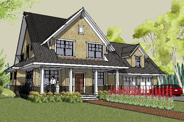 Stillwater craftsman house plan rendering house designed for Free craftsman house plans