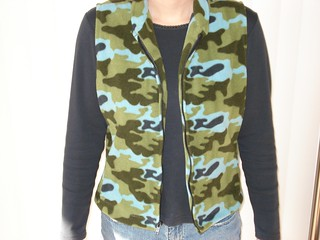 Kwik Sew 2615 fleece vest | by sewing_busy_bee