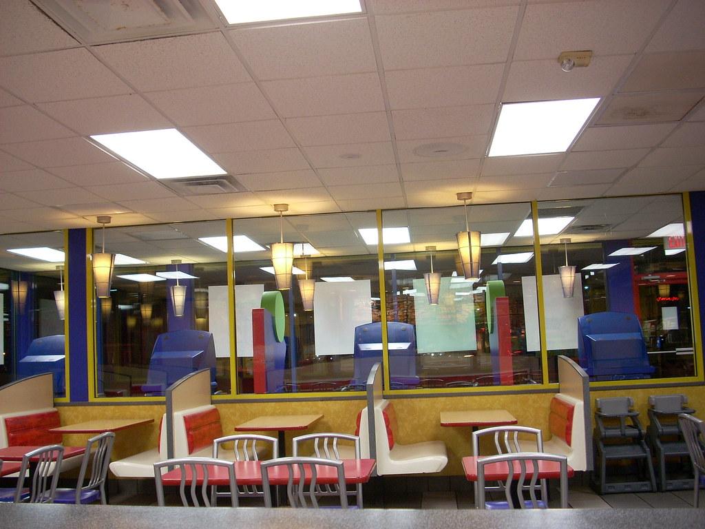 Burger king interior square