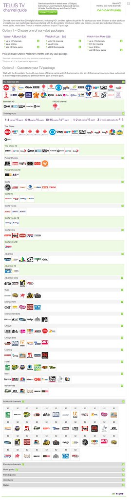 Calgary Channel Listings Telus Tv Quot News Quot Package Inc