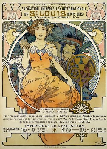 1904 World S Fair Poster By Alphonse Mucha 1903 Flickr