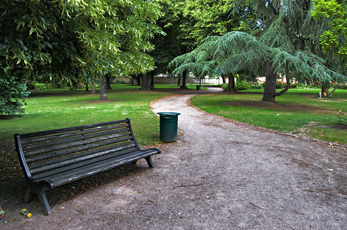 A Lonely Bench In An Empty Park | Flickr - Photo Sharing!