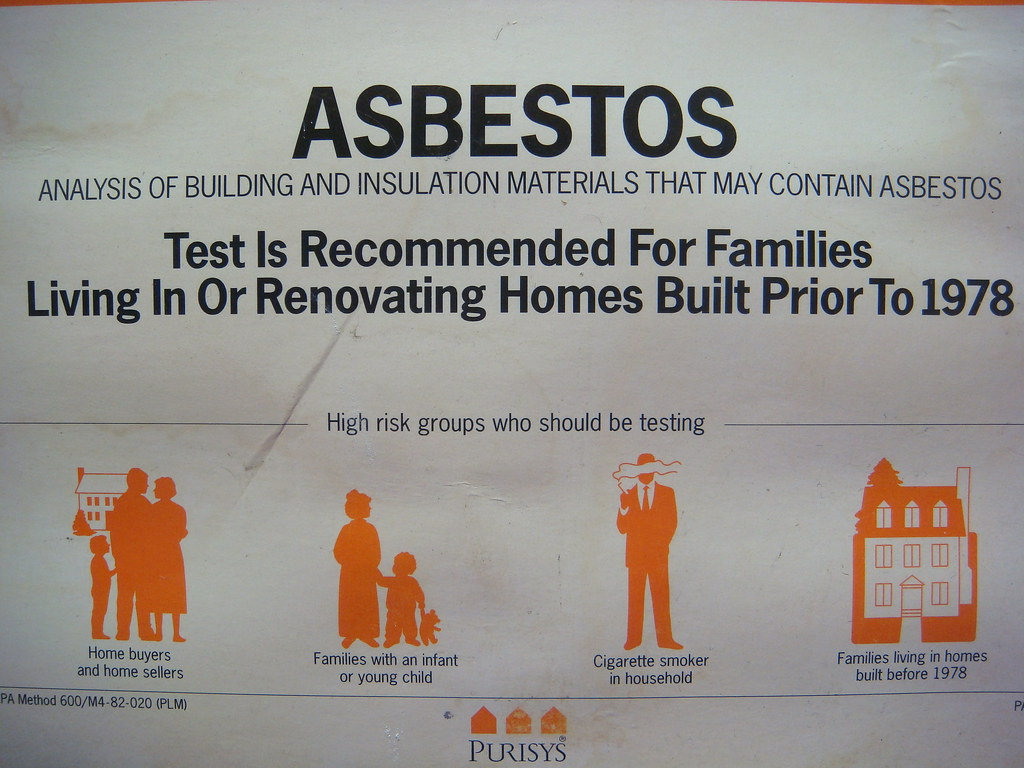 do it yourself home asbestos test kit label close up flickr. Black Bedroom Furniture Sets. Home Design Ideas