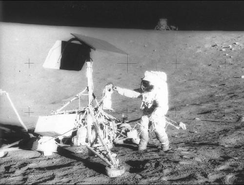 Apollo 12 Landing on the Moon, 1969 (NASA,Moon, 6/15/09 ...