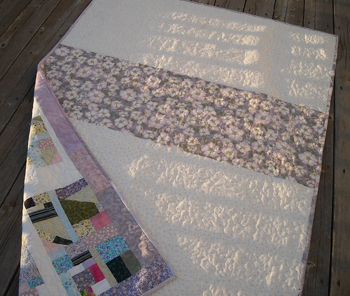 scrap quilt back | by vickivictoria