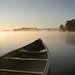 Canoe on Lake Hamilton
