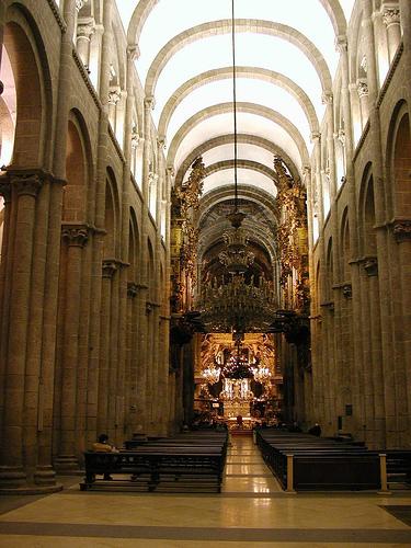 Arte rom nico arquitectura santiago de compostela nave flickr - Santiago de compostela arquitectura ...