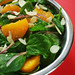 spinach, orange, and toasted almond salad