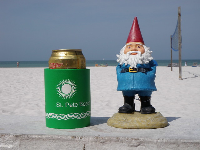 travelocity gnome on st pete beach flickr photo sharing