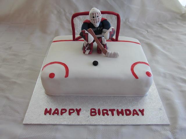 Hockey Goalie Birthday Cakes