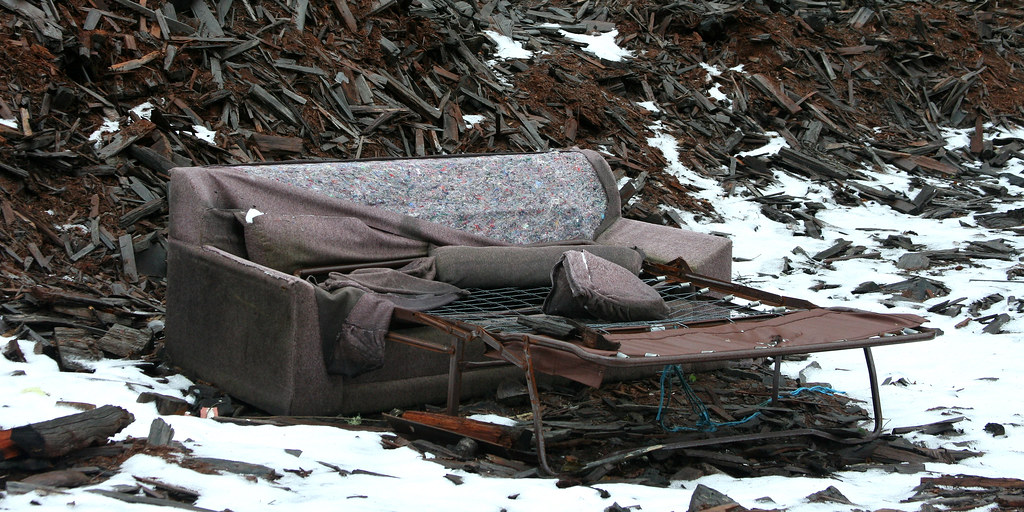 Hide-A-Bed Couch In Dump | Skron | Flickr