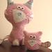 pink cat & kitten