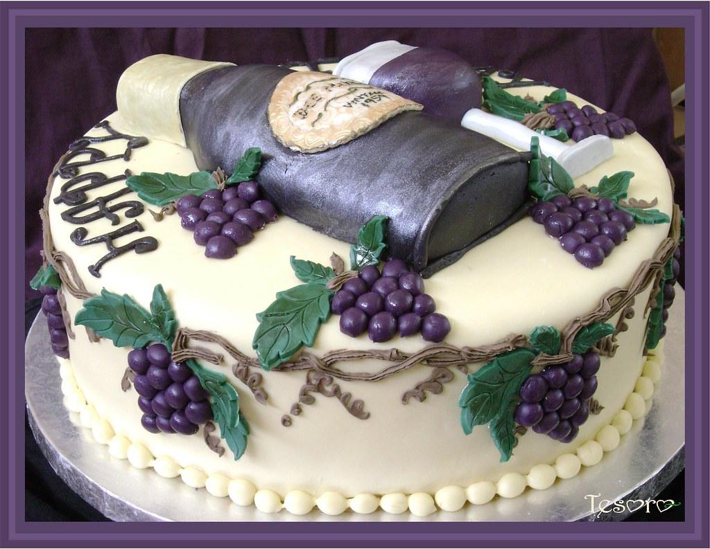 wine bottle cake Vanilla cake with amaretto buttercream ...