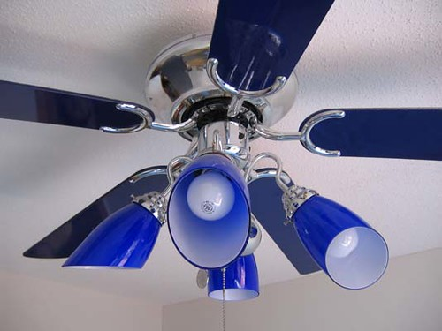 Cobalt Blue Ceiling Fan Light Trixie Morgan Flickr
