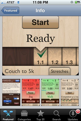 Couch to 5k app in app store kasten for Couch 5k app