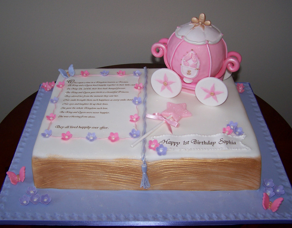 Free Cake Design Books : Fairy tale book cake - princess carriage This was an 11 ...