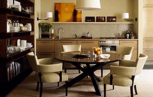 Dining Idea Room Storage: Clean, Masculine Dining Room: Neutral Palette + Mid-centur