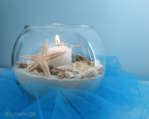 Styling Tips For Embracing A Beach Wedding Theme: Beach Centerpiece - Wedding Decoration