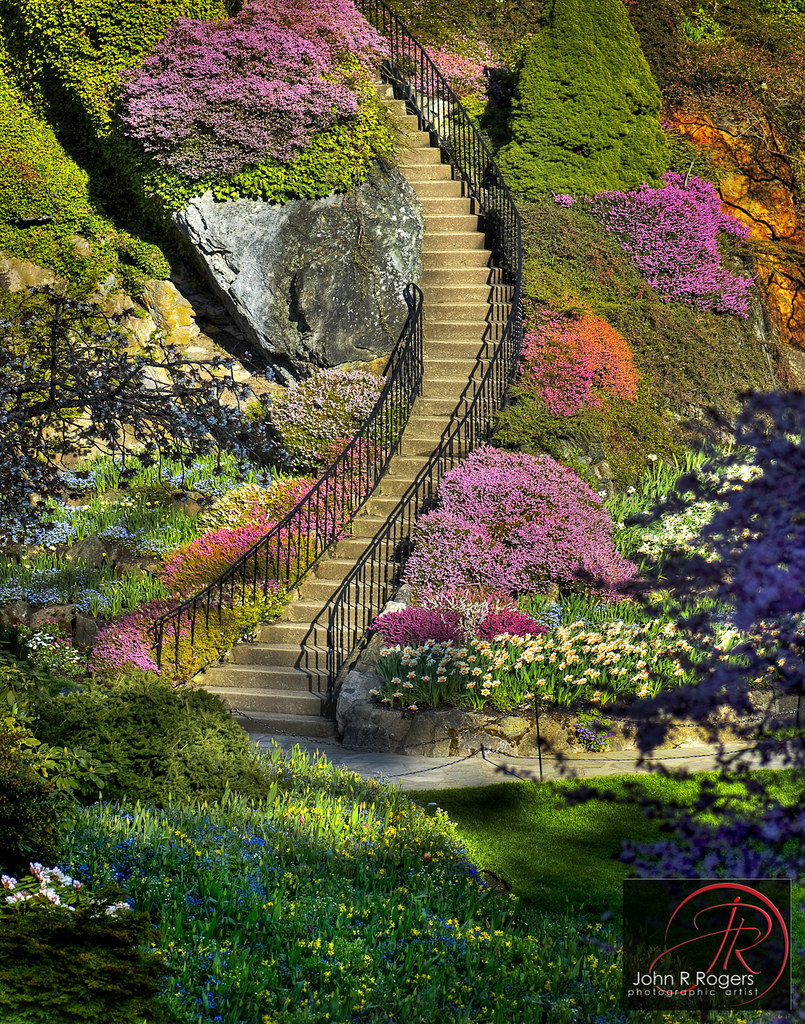 Butchart garden stairway i want my garden to look like for My garden 3d