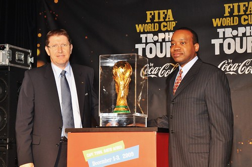 Thierry Weil Head of Marketing for FIFA and Bill Egbe CEO for Coca-Cola SA