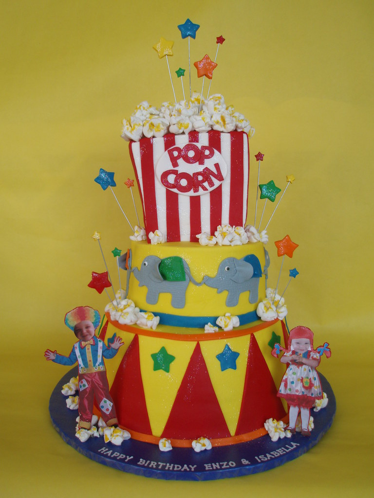 Awesome Circus Theme Cake Slubne Suknie Info Personalised Birthday Cards Bromeletsinfo