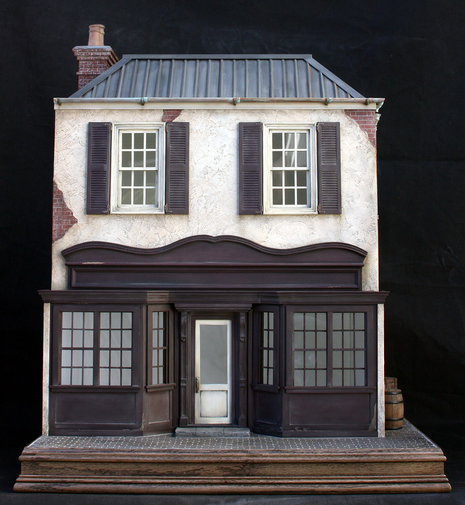 French Storefront - 1/12th Scale - Dollhouse