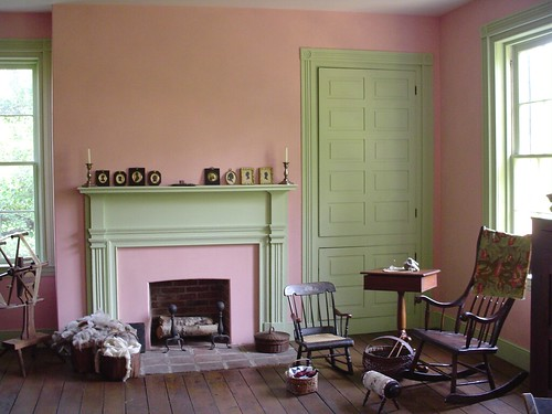 Pink Green Interior Milk Paint In Historic Home Flickr