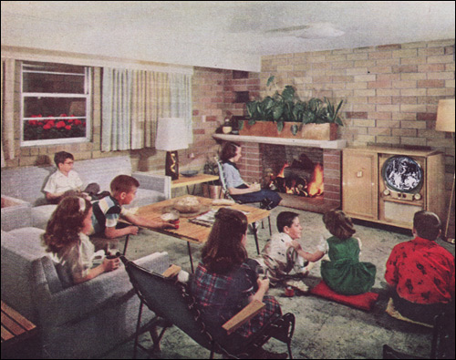 1951 Parking the Kids in the Basement | by American Vintage Home