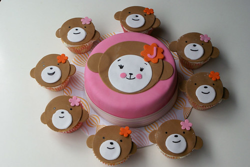 Monkey Face Cupcakes by Coco Cake Land Monkey Face
