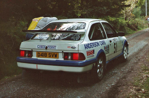 Ford Sierra Cosworth   Argyll stages rally. A round of the ...