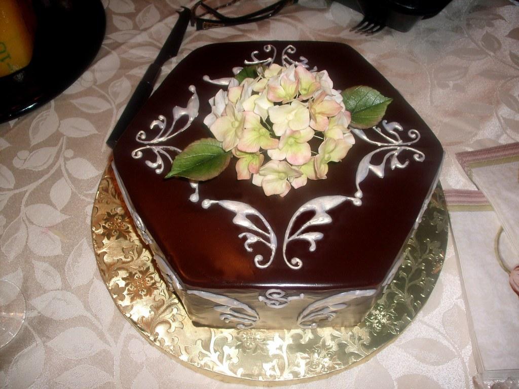 Yellow On Chocolate Cake