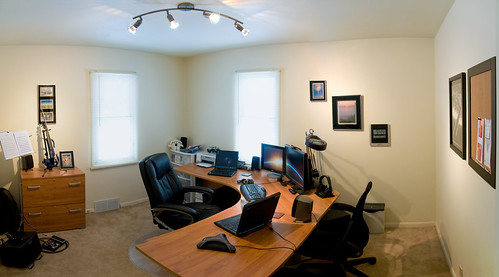 Panorama of my home office | by Paladin27